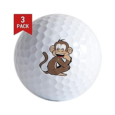 CafePress - Cheeky Monkey - Golf Balls (3-Pack), Unique Printed Golf Balls
