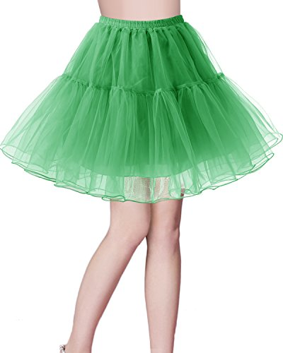 Bridesmay Jupon Tutu Petticoat Femme Vintage annes 50 Rockabilly Vert