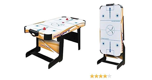 Softee Equipment 0009921 Mesa Air Hockey Plegable, Blanco, S ...