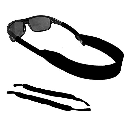 Sunglasses and Safety Glasses Strap &Sunglasses Band - 2 Pack | Anti-Slip and Fast Drying Active Sport Glasses Strap | Black (16 inches, - Sunglasses Sports Band