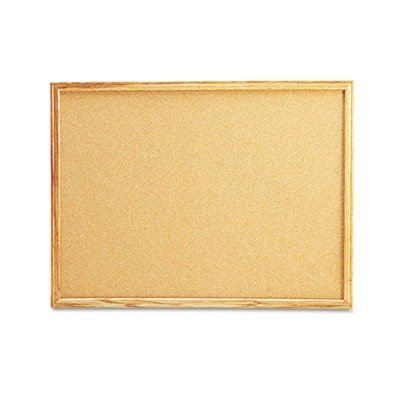 (Universal Products - Universal - Cork Bulletin Board, 24 x 18, Natural, Oak Frame - Sold As 1 Each - 1/32quot; thick all-natural cork is self-healing with dense softboard backing. - Affixed to a dense fiberboard supported by frame with mitered corners. - Tackable surface and frame offers a high-level of durability and style. - Includes mounting hardware. -)