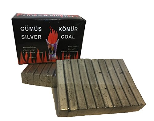Hookah Silver - Gumus Silver Hookah Coals (2 pack = 120pcs)
