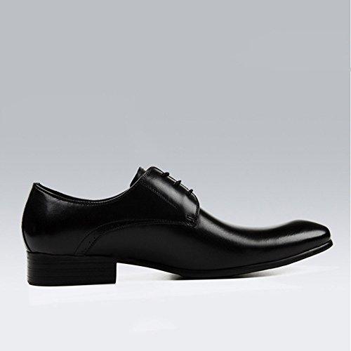 Derby Chaussures Homme Chaussures Business Chaussures Décontractées Classique Noir - Marron Chaussures à Lacets Soft Bottom Black OtYql