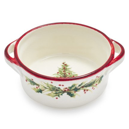 Sur La Table Holly \u0026 Pine Double-Handle Bowl  sc 1 st  Christmas Wikii & Holly and Pine Serveware by Sur La Table