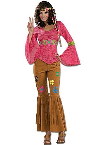 Adult Deluxe Woodstock Honey Hippie Costume - Adult (Honey Deluxe Adult Costume)