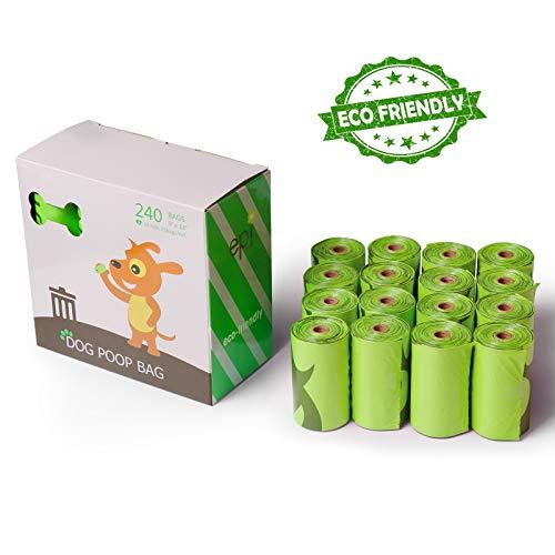 16 Pack – Pet Waste Biodegradable Bags, Built with Heavy Duty EPI Plastic, Leak Proof, Eco Friendly Poop Bags by Prime Pet