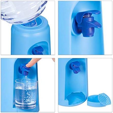 Relaxdays Dispensador de Agua con Tanque y Grifo, Accesorio de Oficina, 4,5L, Plástico, 47,5 x 17 cm, 1 Ud, Azul: Amazon.es: Hogar