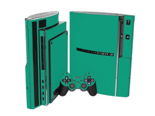 Sony PlayStation 3 Skin (PS3) - NEW - TEAL TURQUOISE system skins faceplate decal - Turquoise Faceplates