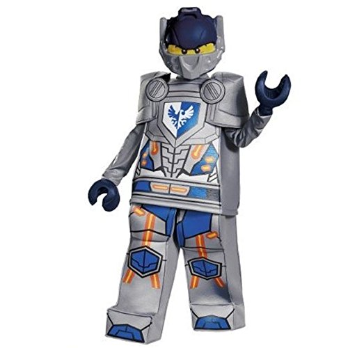 [UHC Boy's Lego Nexo Knights Clay Prestige Deluxe Kids Halloween Costume, Child (10-12)] (Tv Movie Childrens Costumes)