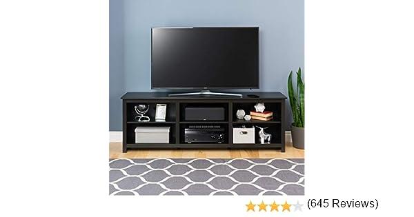 Prepac Black Vasari - Consola de Esquina Plana para televisor Plasma/LCD: Amazon.es: Hogar