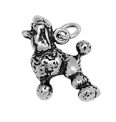 Raposa Elegance Sterling Silver 3D Poodle Charm (Approximately 16 mm x 16 - Charm Poodle 3d