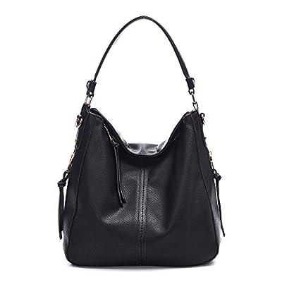 DDDH Vintage Hobo Handbags Shoulder Bags Durable Leather Tote Bags Crossbody Purses Bucket Bag For Women/Ladies/Girls