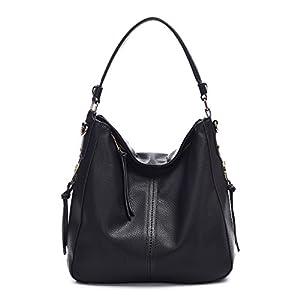 DDDH Vintage Hobo Handbags Shoulder Bags Durable Leather Tote Messenger Bags Bucket Bag For Women/Ladies/Girls