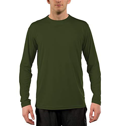 Vapor Apparel Men's UPF 50+ UV Sun Protection Performance Long Sleeve T-Shirt X-Large OD Green