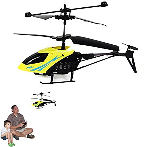 Dazzling Toys Remote Controlled Helicopter - 3.5 Channels for Accurate Flying - Alloy Design - Color Yellow