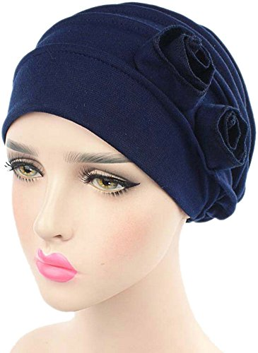 Ababalaya Stretch Flower Muslim headscarf