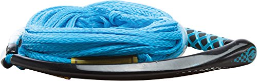 Hyperlite Apex PE EVA Handle with 4 Sec Rope for Waterski Boat - Yellow, Blue, White, Red