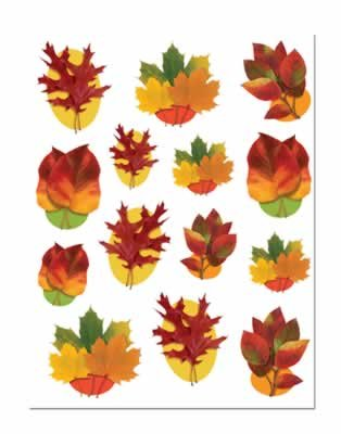 Beistle Decorative Autumn Leaf Clings, 12-Inch by 17-Inch Sheet ()