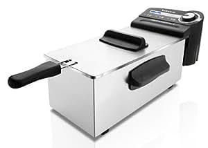 Taurus Professional 3 - Freidora professional, 2100 W, capacidad de 3 l, regulador de temperatura, color blanco [Clase de eficiencia energética A]