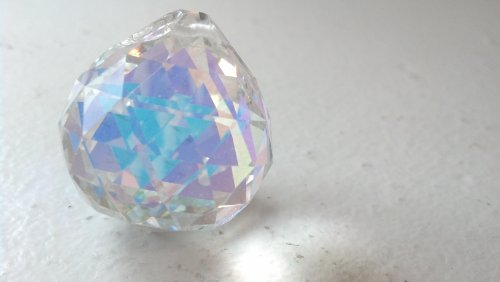 Ab Faceted Crystal (30mm Chandelier Crystal AB Faceted Ball Prism Feng Shui)