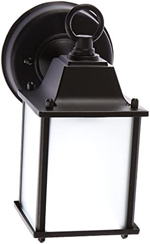 Acclaim 5001BK FR Builder s Choice Collection 1-Light Wall Mount Outdoor Light Fixture, Matte Black
