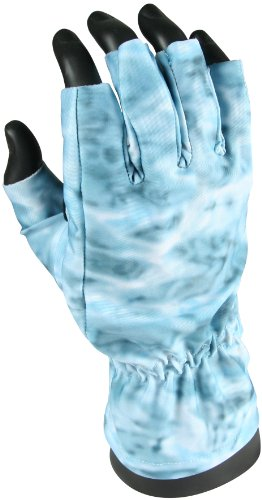 Fingerless Camo Fishing UPF 50+ Sun Protection Fast Dry Angler Gloves, Outdoor Stuffs