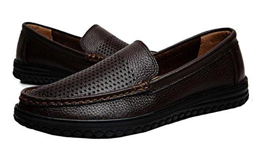 2017nuevo primer capa de zapatillas Casual de hombre pie de auténtica piel sandalias vacíos 2