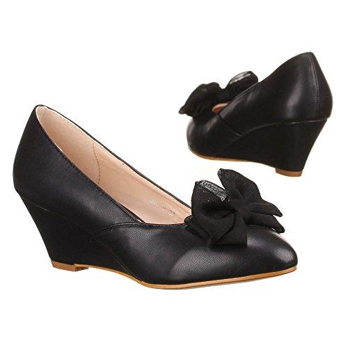 negro Tacón de Design Ital Negro Mujer Zapatos wxYvwHnz