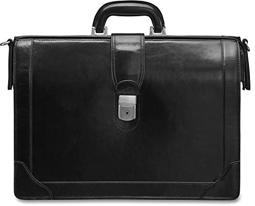 Mancini Vanizia Collection Luxurious Laptop Compatible Litigator Briefcase With Rfid Secure Pocket
