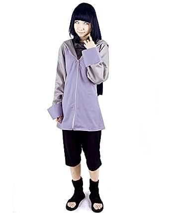 Miccostumes Women's Naruto Hyuga Hinata Cosplay Costume Small Purple and Black