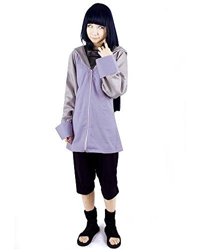 - Miccostumes Naruto Hyuuga Hinata Cosplay Costume, Purple and Blue, X-Large
