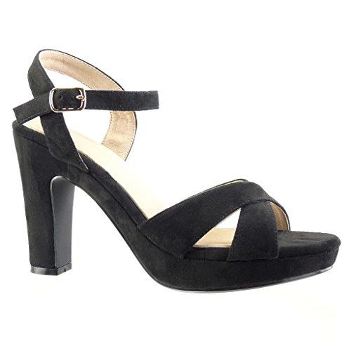 Barato Exclusivo Zapatos negros de punta redonda formales Angkorly para mujer Precio bajo de envío bajo Barato con Mastercard Gran venta de venta en línea KbxqkNUX3Y