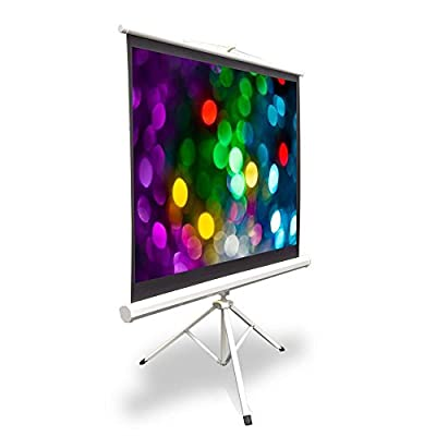 "Pyle PRJTP42 40"" Video Projector Screen, Easy Fold-Out & Roll-Up Projection Display, Tripod Stand Style"