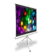 Pyle PRJTP42 40-Inch Video Projector Screen, Easy Fold-Out and Roll-Up Projection Display, Tripod Stand Style