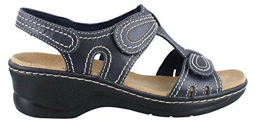 Clarks Women's Lexi Walnut Q Navy Leather Sandal 8 B (M)