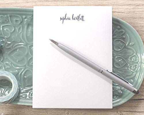 Personalized Notepad with Script Name/Personalized Women