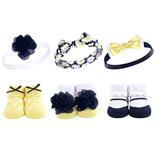 Hudson Baby Headband and Socks Set, 6 Piece, -