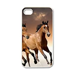iPhone 4 4s White Cell Phone Case HUBYLW3366 Pferd - Horse Clear Cell Phone Case