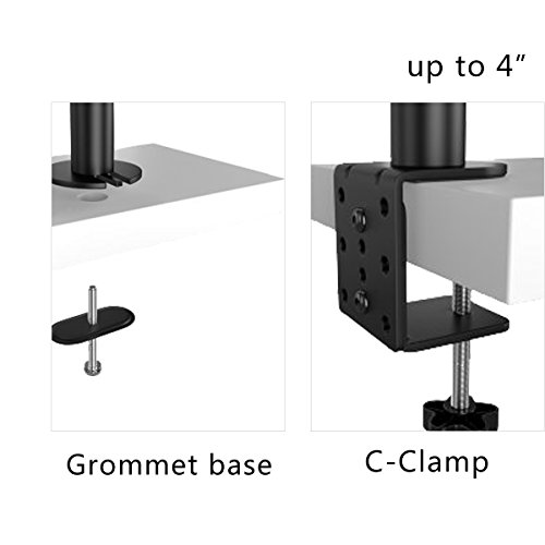 Suptek Full Motion Computer Monitor and Laptop Riser Desk Mount Stand, Height Adjustable (800mm), Fits 13-27'' Screen and up to 17'' Notebooks, VESA 75/100, up to 22lbs for Each (MD6832TP004) by suptek (Image #4)