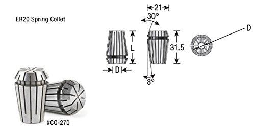 1//8 Dia Spring Collets ER8 CO-442 Industrial Grade Amana Tool
