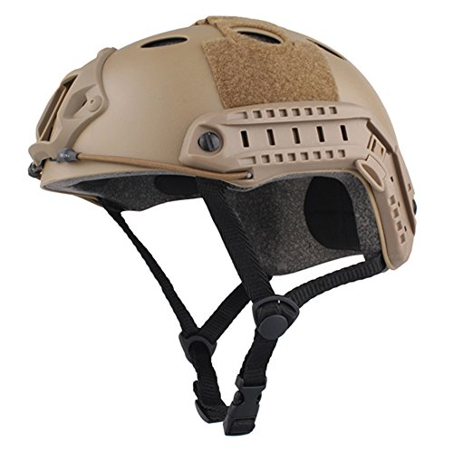 EMERSONGEAR PJ Type Fast Helmet Tactical Protective Helmet for Airsoft Paintball Hunting Cycling Motorcycle DE