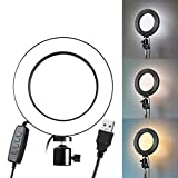 7thLake Portable LED Ring Light Dimmable USB 5500K Fill Lamp for Photography Phone Video Live