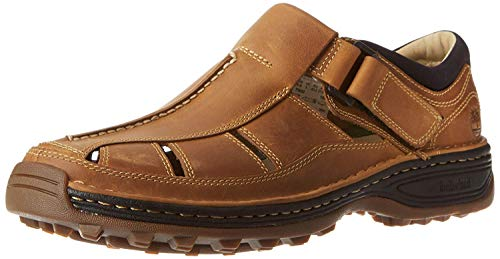 Timberland Men's Altamont Toe/Closed Back Fisherman, Tan Oiled Distressed Full Grain, 13 M US from Timberland