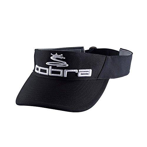 Cobra PRO TOUR VISOR (Black-White, One Size) (Visors Cobra)