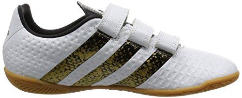 adidas Ace 16.4 In H&l, Botas de Fútbol Para Niños Blanco (Ftwr White/Core Black/Gold Metallic)