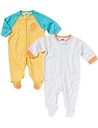 DoMii Baby Gowns Long Sleeve Organic Cotton Sleeper Pajamas for Toddler Boy Girl