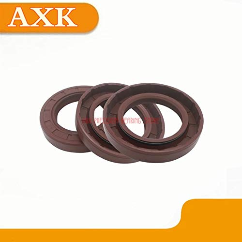 (Gimax Real Sale Feet Silicone Gasket Hts Gimax 5pcs Fluorine Skeleton Oil Seal Inner Diameter 1928-inside 1947/5 Motor Car - (Size: 19X37X7))