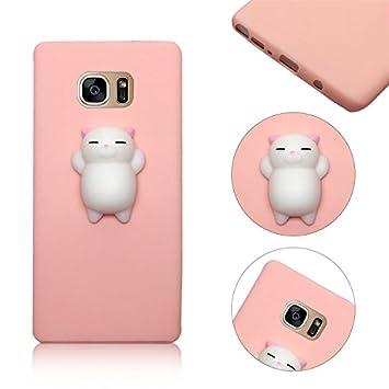 Galaxy S7 Funda Samsung Galaxy S7 TPU Gel de Sílice Caso,MingKun Barba Gatos Polvo Cover para Samsung Galaxy S7 TPU Case Flexible Funda: Amazon.es: ...