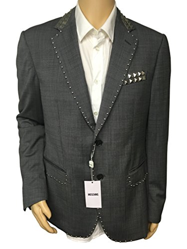 Moschino Men's Designer Sports Jacket Blazer Coat Wool Studded 2 Button (54R(EU)-42RUS)) ()
