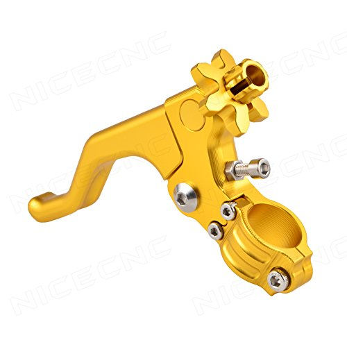 Gl Clutch Cable - NICECNC Gold Short Stunt Clutch Lever Perch for RM 65-250 96-16 RMZ250/450 04-16 GSX-R600 97-16 750 89-91,96-16 GSX-S1000/F/ABS 15-16 GSX-R1000 01-06,09-16 DR-Z250 01-07 TL1000S 97-01